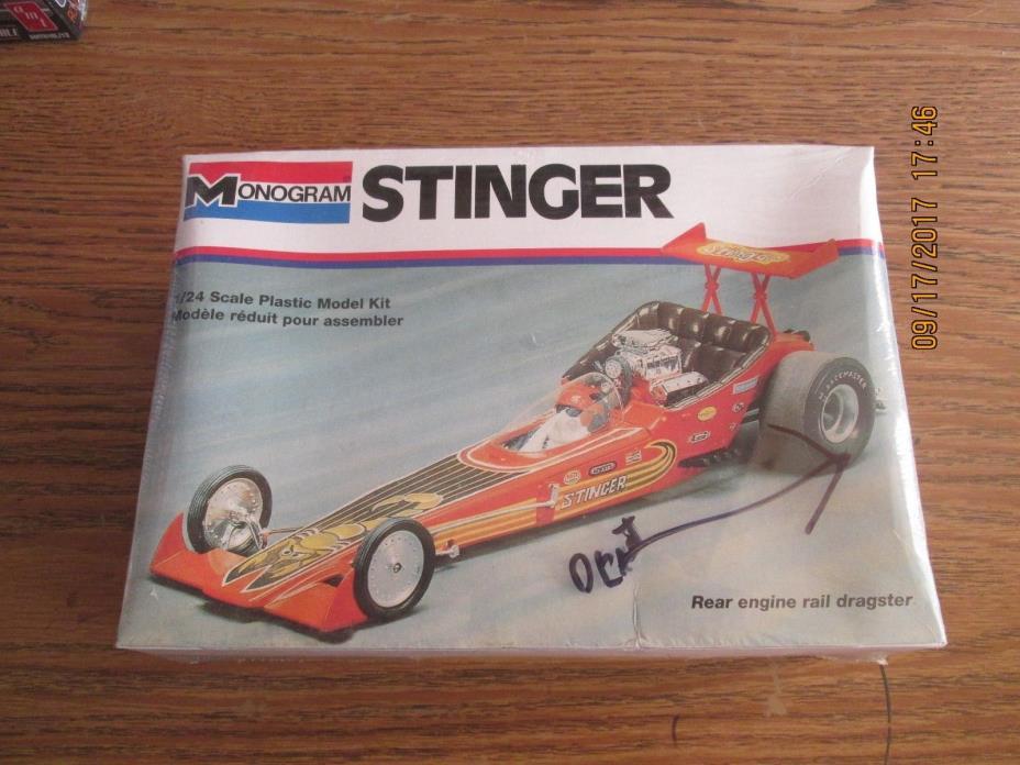 Monogram Stinger Rear Engine Dragster 1/24 scale  Kit # 2809 Factory Sealed