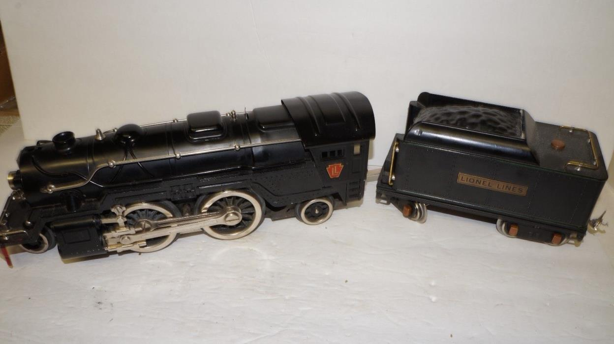 LIONEL =  1835E   2-4-2   BLACK  STEAM   ENGINE AND 384T TENDER