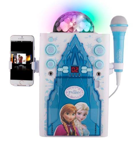 Disney Frozen Magical Ice Palace Disco Ball Karaoke Machine