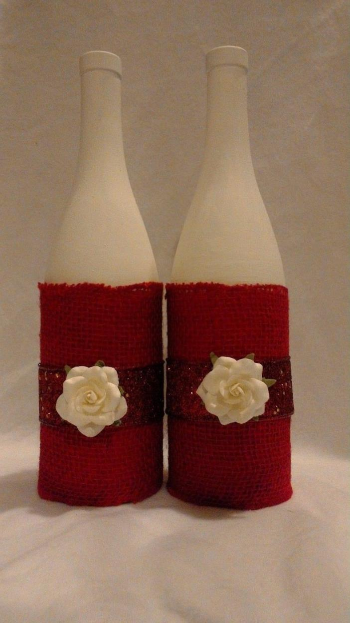 Decorative wine bottles/flower vases