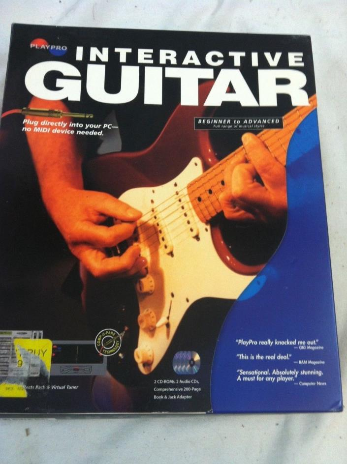 PlayPro Interactive Guitar Play Like A Pro!! LEARN TO PLAY GUITAR  CD AND BOOK