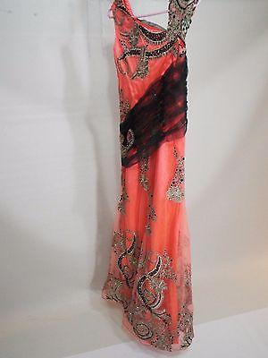 Gypsy orange black wedding / party dress gown size XS-S free shipping