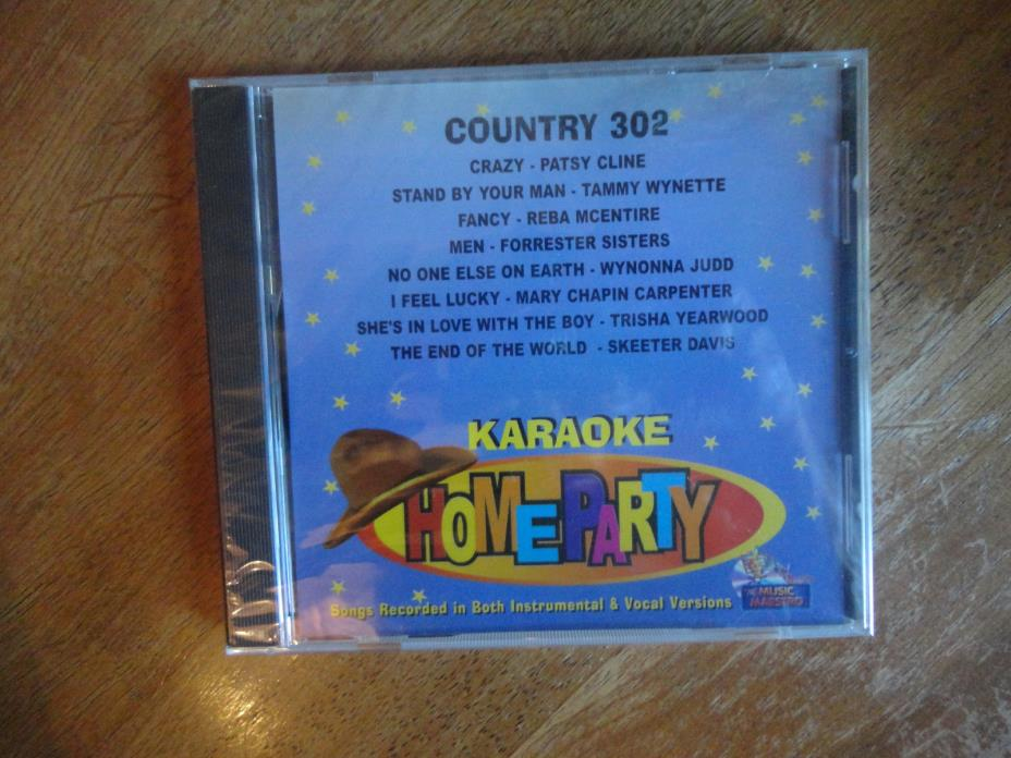 Country Karaoke cdg 16 songs Patsy Cline Crazy Brand New 8+8