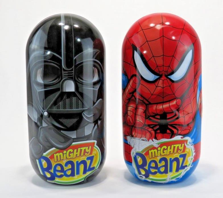 Mighty Beanz Lot 63 Carrying Case Spiderman Star Wars Marvel Disney Pixar Mixed
