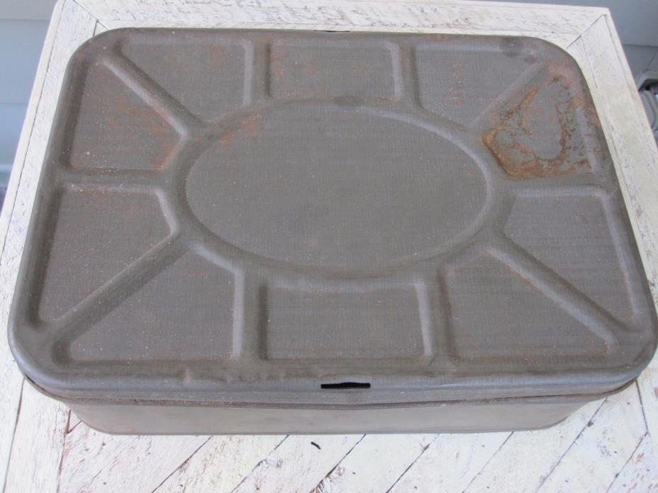 Vintage Metal Bread Box With Lid