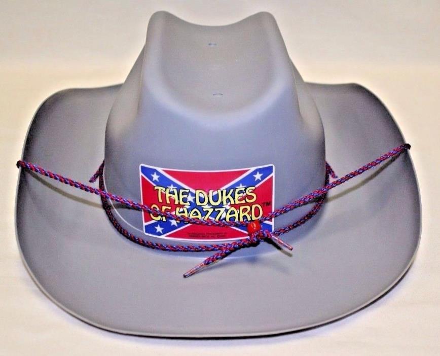Vintage 1981 Dukes of Hazzard Plastic Cowboy Hat H-G Toys Rare Mint Condition