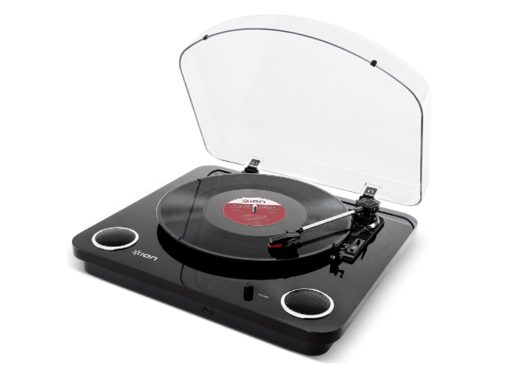ION Audio Max LP | 3-Speed Belt Drive Turntable with Built-In Speaker- BRAND NEW
