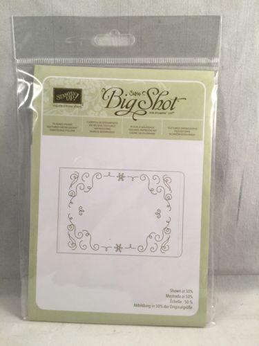 FILIGREE FRAME Embossing Folder Stampin Up New Background Letterpress Winter