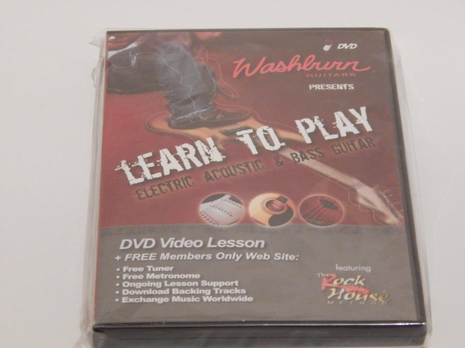 Washburn Guitars Presents Learn to Play Electric, Acoustic, and Bass Guitar DVD