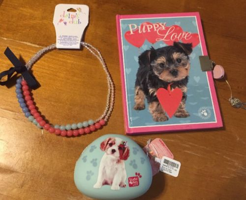 Claire's Kitten Diary Puppy Coin Purse Necklace Lot Studio Pets