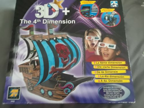 Diamant The 4th Dimension 3D Pirate Ship Craft Set, including 3 D Glasses sealed