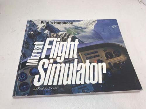 MICROSOFT FLIGHT SIMULATOR v. 5.0 1993 MS-DOS Pilots HANDBOOK manual book