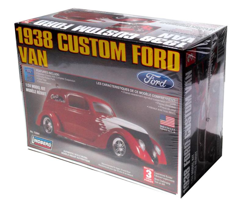 Lindberg 1938 Custom Ford Van 1/24 Scale Model Kit #73064 New in Box