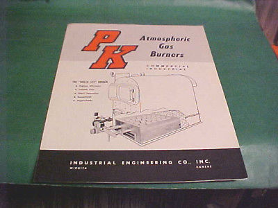 VINTAGE P K ATMOSPHERIC GAS BURNERS BROCHURE WICHITA KS