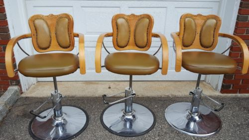 Local pickup ONLY NJ- 3 Vintage Barber stylist chairs