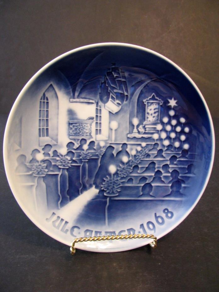 Bing and Grondahl Christmas In Church Decorator Plate Denmark 1968