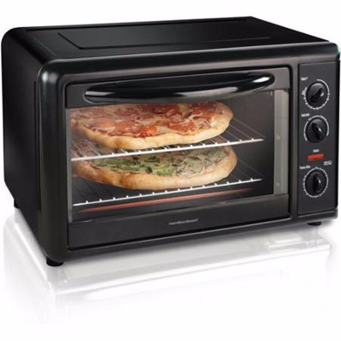 Hamilton Beach 31104 Countertop Oven with Convection and Rotisserie, Silver-NEW
