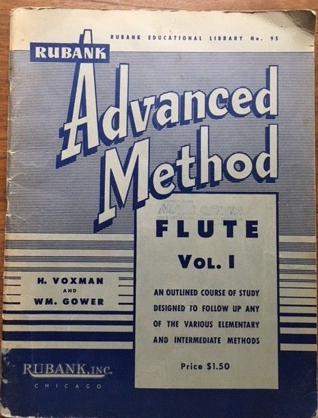 Advanced Method Flute, by H. Voxman and WM. Gower, vintage music book