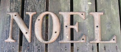 Antique Cast Iron Sign Letters N O E L 8