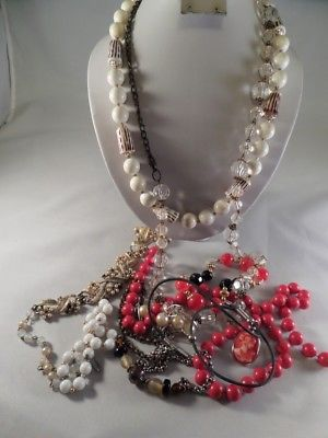 Damaged Jewelry Lot For Parts Repairs or Crafting J1