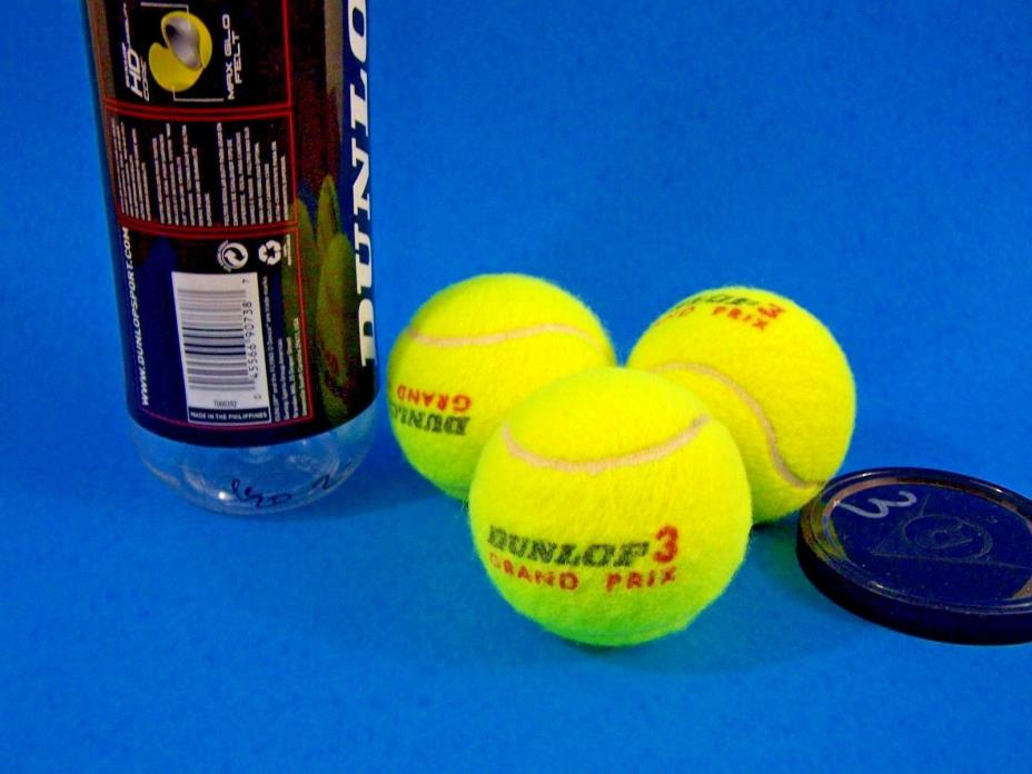 Dunlop Sport 3 Tennis Balls All Surface Grand Prix New