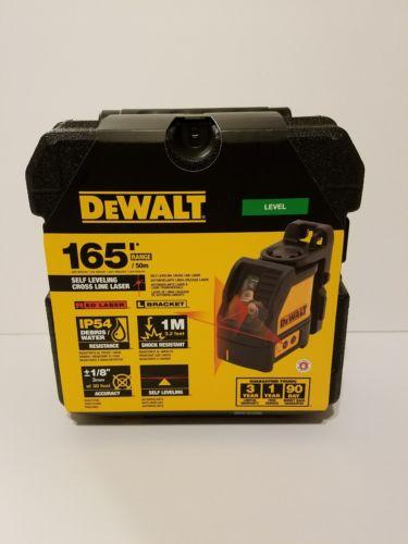 Brand New DeWalt DW088K Self-Leveling Cross Line Laser 165' Range