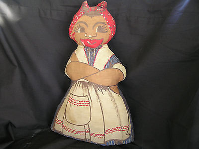Vintage Black Americana Printed Fabric Doll