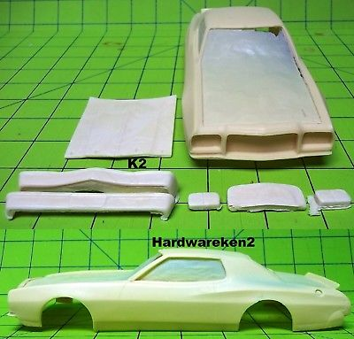BODY - NASCAR RESIN 1975 FORD TORINO COUPE NASCAR STOCK CAR BODY - 1/24