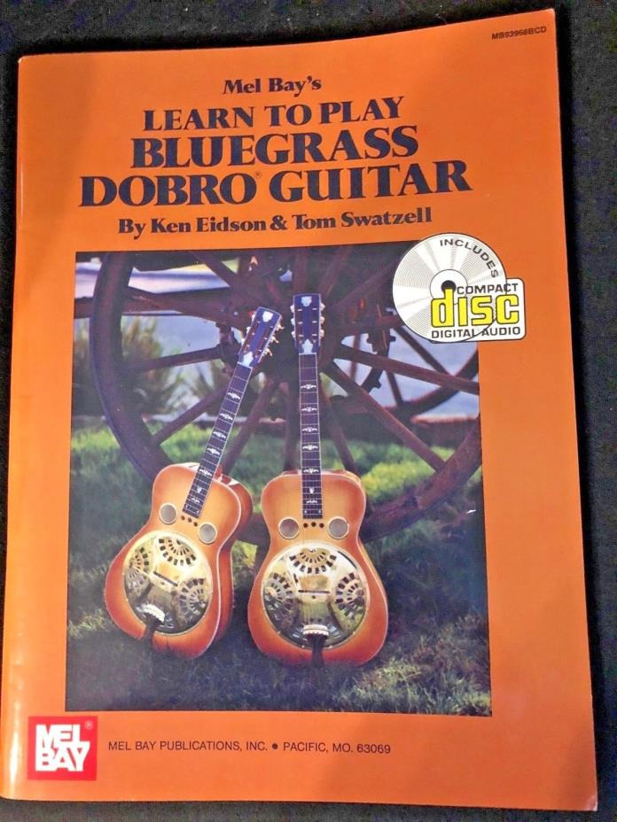 LEARN TO PLAY BLUEGRASS DOBRO ACOUSTIC GUITAR BOOK-BRAND NEW WITH CD
