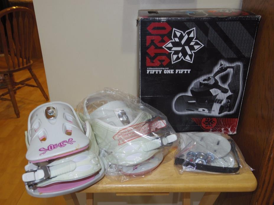 5150 Snowboard Bindings - Women's Size 6-10W - White/Pink - Empress - New