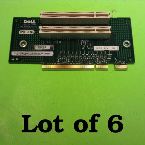 *LOT OF SIX* Dell Dimension 4500S Optiplex GX150 GX60 2 Slot Riser Card Board CN