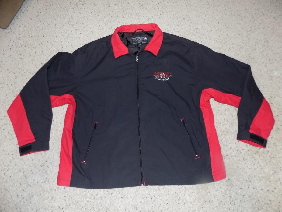 Great Adult 2XL Matco Tools As Good As Gold Black Zip Up Windbreaker Jacket