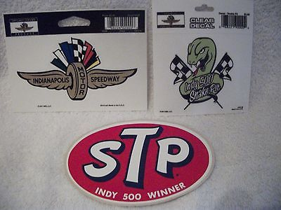 3 indianapolis motor speedway snake pit indy 500 stp sticker decals