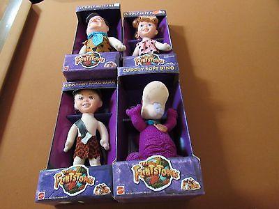 The Flintstones Movie Action Figure Dolls Lot of 4 NIB