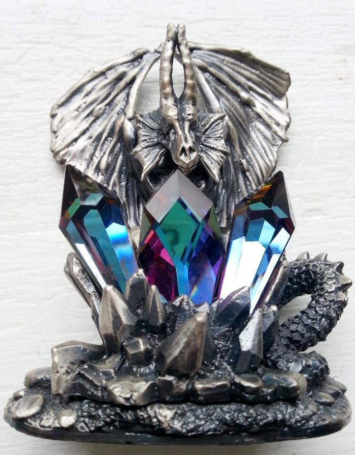 Myth & Magic Tudor Mint The Dragon of the Ice Crystals Pewter Study Figurine 311