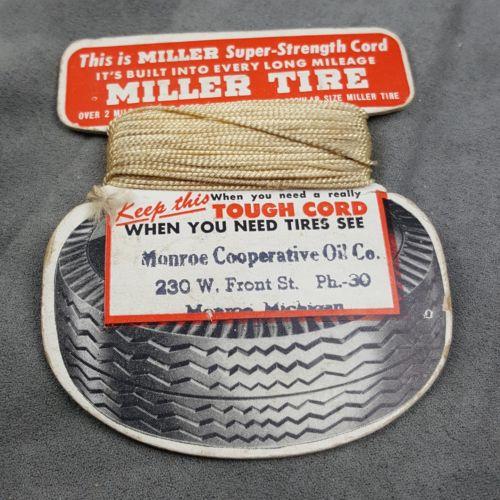 Vintage Miller Tire Advertising Cord