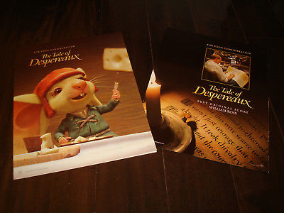 THE TALE OF DESPEREAUX 2 Oscar ads with Swiss cheese, Best Animated Feature
