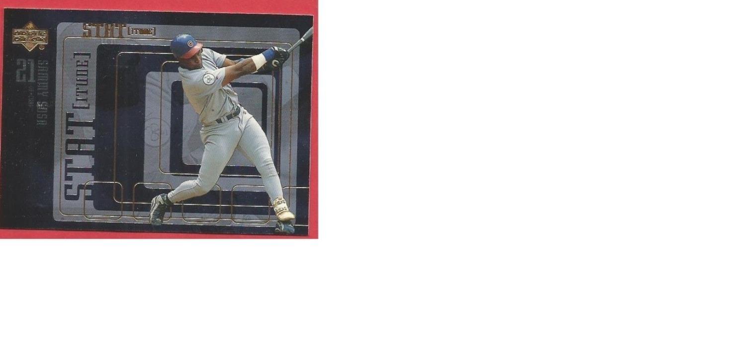 Sammy Sosa, Manny Ramirez - 1999 UD STATitude Insert Card - Priced at $1.50
