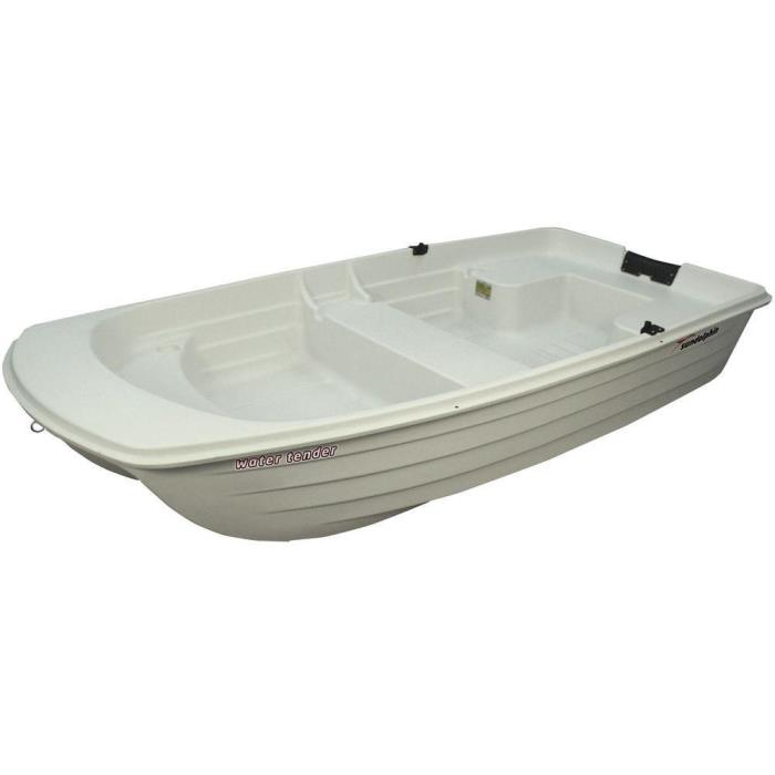 Versatile White 9.4 ft. Portable Water Tender Boat with Molded Bench Seats