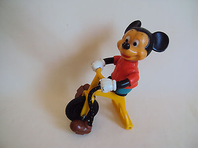 VINTAGE 1977 WALT DISNEY PROD. MICKEY MOUSE ON TRICYCLE WORKING