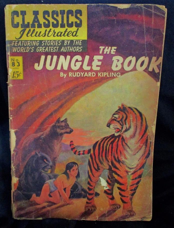 THE Jungle Book #83 15 CENTS CLASSICS  ILLUSTRATED COMIC (1965)