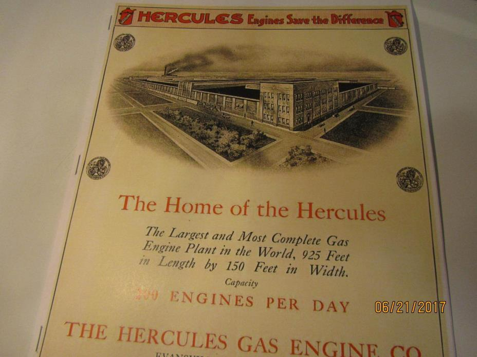 Hercules Gasoline Engines Catalog, Hit Miss  Engine Catalog