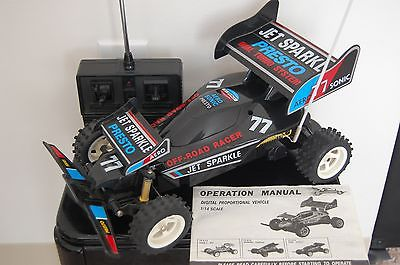 Vintage 1980's Remote Control Battery Operated Race Car