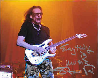 Steve Vai SIGNED Photo of Ibanez Jem Guitar David Lee Roth