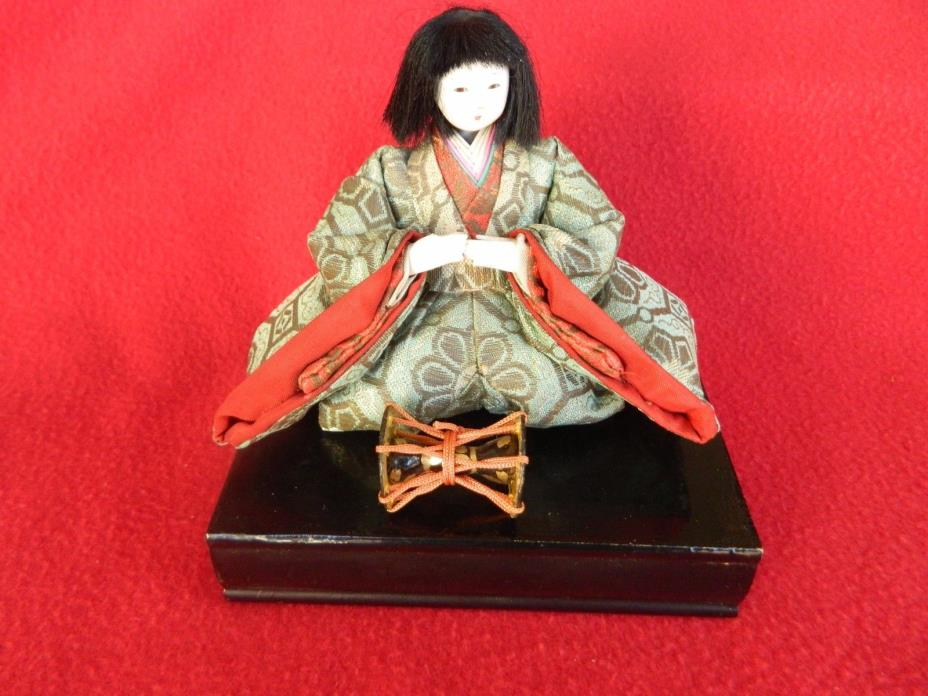 Antique Japanese Hinamatsuri Placement Doll Musician No. 3 Good