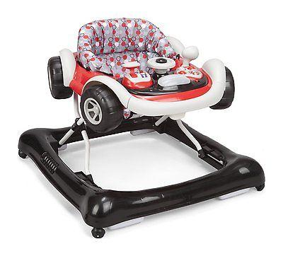 Baby Activity Walker Red Car Adjustable Sounds Lights NEW Safe