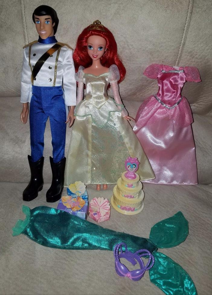 Ariel and Eric Wedding doll, new without tags. Plus 1 dress, and 1 bra & fin.
