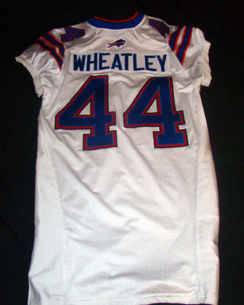 TERRENCE WHEATLEY BUFFALO BILLS GAME USED 2011 REEBOK NFL FOOTBALL JERSEY 44