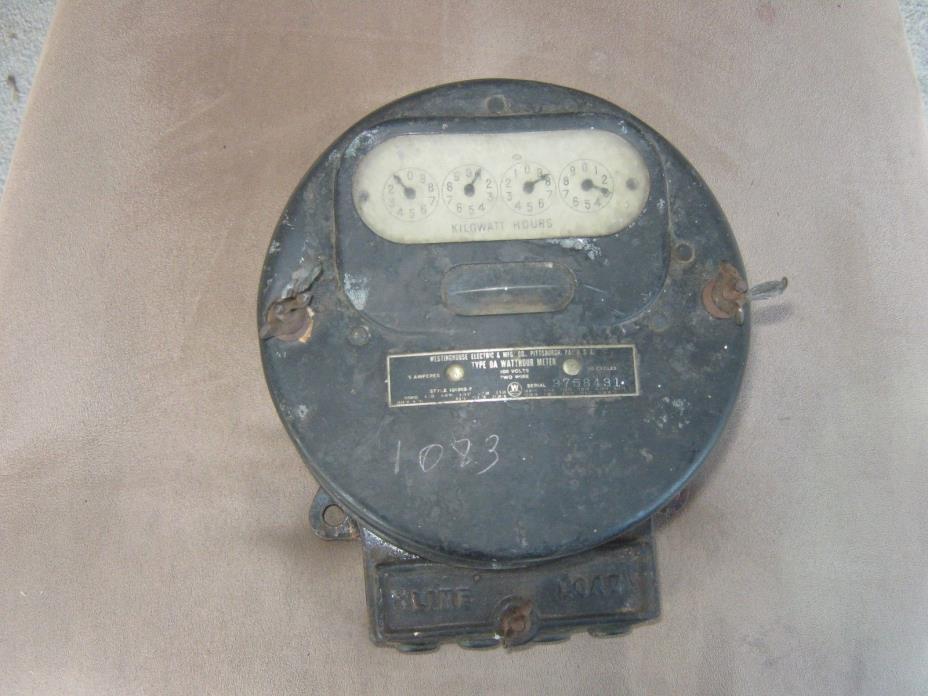 Early Westinghouse watt meter electric meter STEAMPUNK