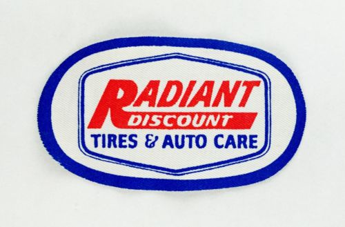 Radiant Discount Tires & Auto Care Vintage Sew On Patch 4.25